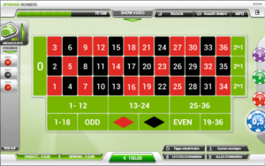 INTERFACE DE JEU ROULETTE