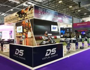 DS Virtual Racing stand at the ICE 2019 London